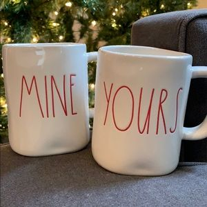 Rae Dunn Mine and Yours Mugs
